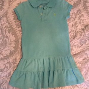 Polo dress with ruffle bottom